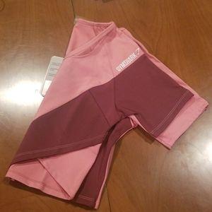 Gymshark Pink Asymmetrical Crop Top BNWT